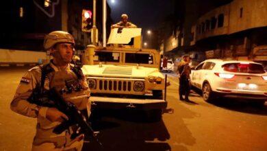 صورة سقوط 3 صواريخ قرب السفارة الأمريكية في بغداد
