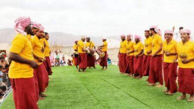 """صورة تدشين مهرجان """" زايد """" للمورث الشعبي السقطري"""