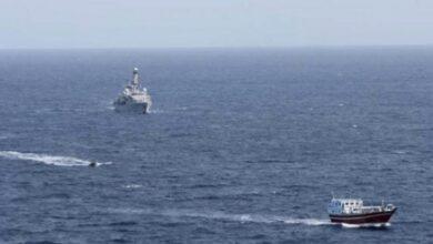 صورة تعرض سفينة إسرائيلية لهجوم قبالة عُمان