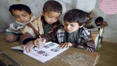 """صورة مليشيات الحوثي تفرض منهجا طائفيا على """"تلاميذ المدارس"""""""