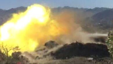 صورة معارك عنيفة بين #القوات_الجنوبية ومليشيات #الحوثي في قطاع بتار والمشاريح