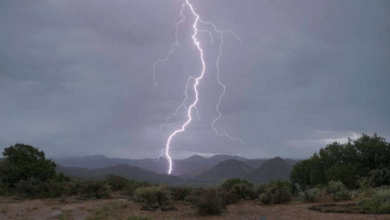 صورة الأرصاد يتوقع هطول أمطار متوسطة مصحوبة بعواصف رعدية على مرتفعات الجنوب