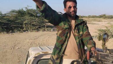 صورة استشهاد البطل إيهاب الحجيلي في اشتباكات مع مليشيا الحوثي على حدود يافع