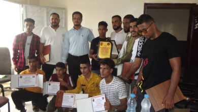 صورة إدارة الشباب والطلاب بتنفيذية انتقالي لحج تكرم الفائزين بالبطولة العربية للجودو