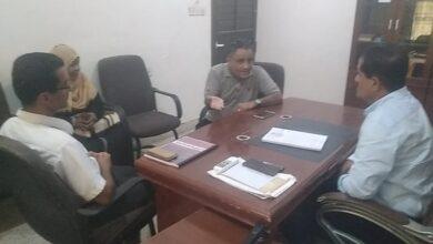 صورة رئيس انتقالي أبين يبحث مع رئيس منظمة حق سبل التعاون والتنسيق في رصد الانتهاكات