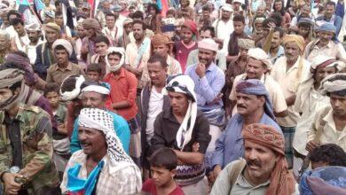صورة فعالية حاشدة في نصاب تطالب برحيل الإخوان