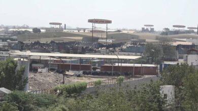 صورة قصف حوثي يستهدف منشأة صناعية في #الحديدة اليمنية