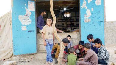 صورة تهجير 261 أسرة جراء قصف الحوثيين على مأرب اليمنية