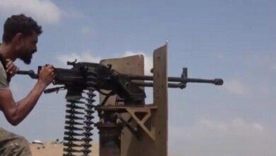 صورة إخماد مصادر نيران حوثية شرق #الحديدة اليمنية
